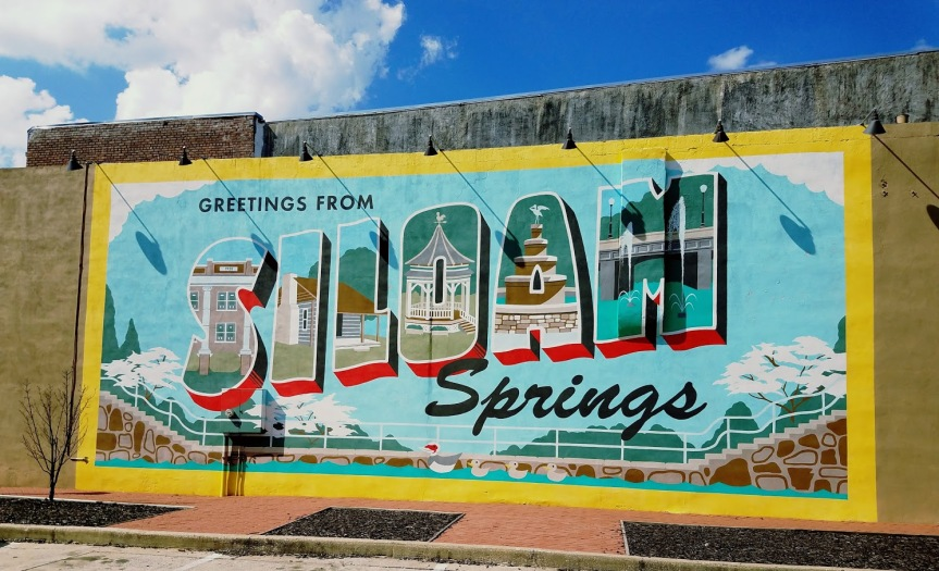 Greetings from Siloam Springs Mural
