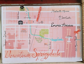 Springdale Window mural downtown map