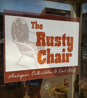 The Rusty Chair sign